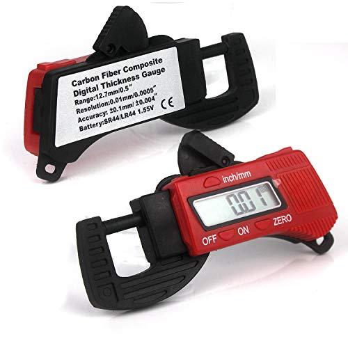 Mini Tragbare Digital Dicke Messschieber Mikrometer Dicke Messgerät mit LCD Display (Rot)