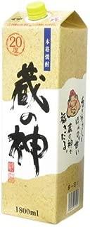 焼酎 芋焼酎 蔵の神パック 白麹 20度 1.8L 6本 1ケース 山元酒造
