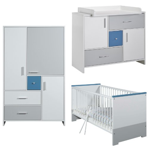 Schardt Kinderzimmer Candy Blue mit 3-türigem Schrank