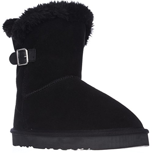 Price comparison product image Style & Co. Womens Tiny 2 Suede Faux Fur Lined Winter Boots Black 7 Medium (B, M)