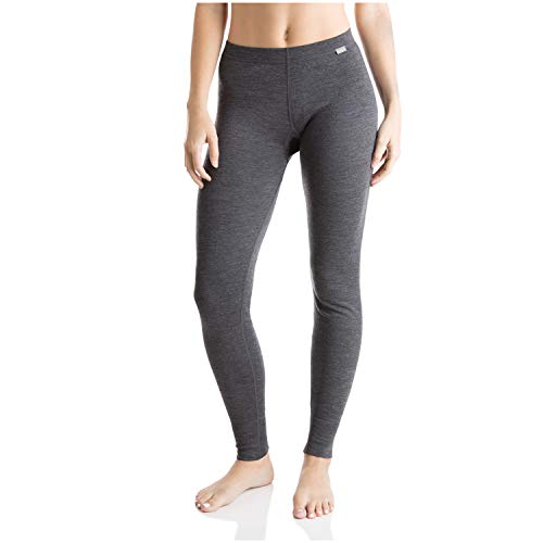 MERIWOOL Womens Merino Wool Base Layer Thermal Pants (Charcoal Gray, Small)