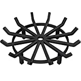 Amagabeli 27in Fire Grate Log Grate Wrought Iron Fire Pit Round Spider Wagon Wheel Firewood Grates Heavy Duty 0.7in Bar Fireplace Stove Burning Rack Holder 4Legs Black Chimney Hearth Kindling Stacking