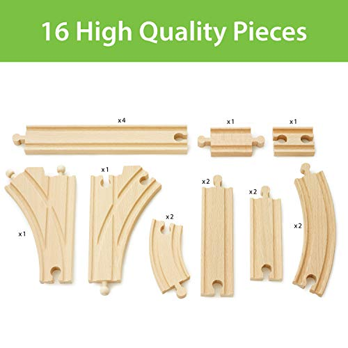 BRIO World - Expansion Pack - Intermediate Wooden Train Track for Kids age 3 years and up compatible with all BRIO train sets