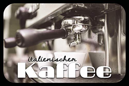 FS Italiaanse koffie blikken schild bordje gewelfd Metal Sign 20 x 30 cm
