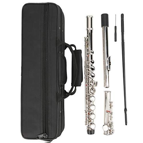 Pwshymi Konzert Flöte leicht für Studenten oder Anfänger. Flötenliebhaber, DIY-Liebhaber.(Silver)