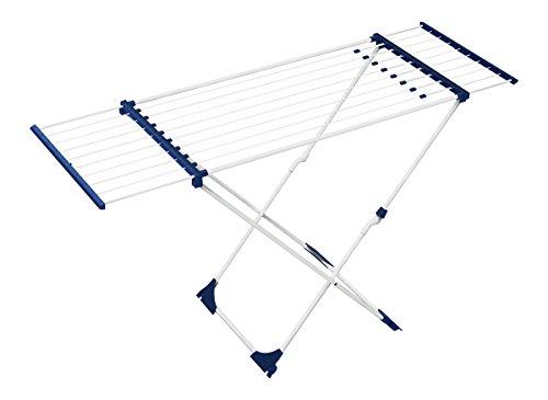 BigDean Teleskop Wäscheständer mit Rollen 18m Deluxe Wäschetrockner Flügelwäschetrockner Flügelwäscheständer