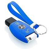TBU car Funda Carcasa Llave Compatible con Mercedes - Funda de Silicona - Cover de Llave Coche - Azul