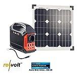 reVolt Solar Set: Powerbank & Solar-Konverter mit 20-W-Solarzelle & Anschlusskabel, 42Ah (Solar-Generator & Powerbank)