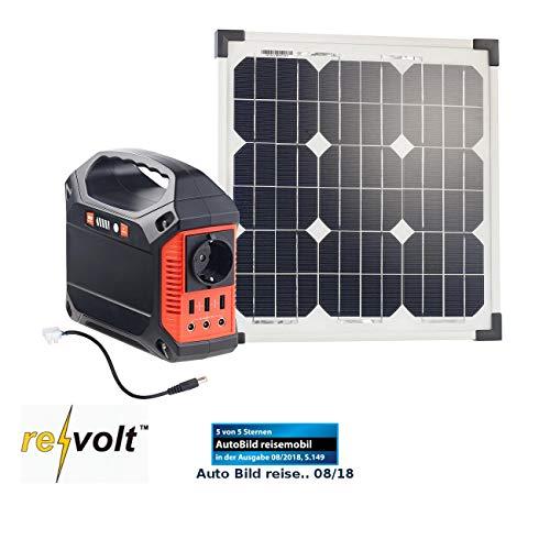 reVolt Solar Generator: Powerbank & Solar-Konverter mit 20-W-Solarzelle & Anschlusskabel, 42Ah (Solar-Generator & Powerbank)