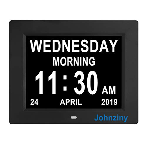 Memory Loss, Dementia Johnziny Digital Calendar Day Clock- 8 Alarms Alzheimer