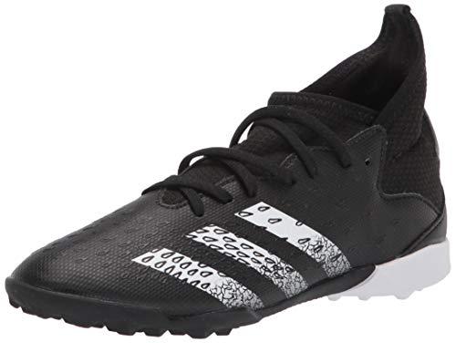 adidas Turf Predator Freak .3 Soccer Shoe (boys) Black/White/Black 3 Little Kid