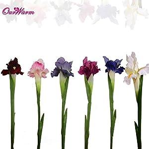 Silk Flower Arrangements ShineBear 6pcs Silk Artificial Flower Iris Flowers Wedding Party Home Decor DIY 68cm/27
