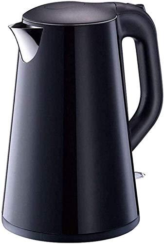 Hervidor eléctrico silencioso doble antiquemaduras, hervidor eléctrico de 1,7 L, cierre automático para jugo/leche/té, hervidor eléctrico de gran capacidad 304 de acero inoxidable 1500 W
