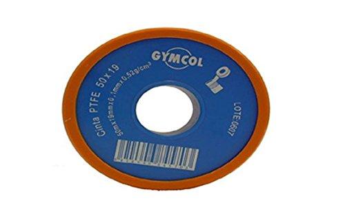 Gymcol M125083 - Cinta ptfe gymcol (teflon)50mx19mmx0 1