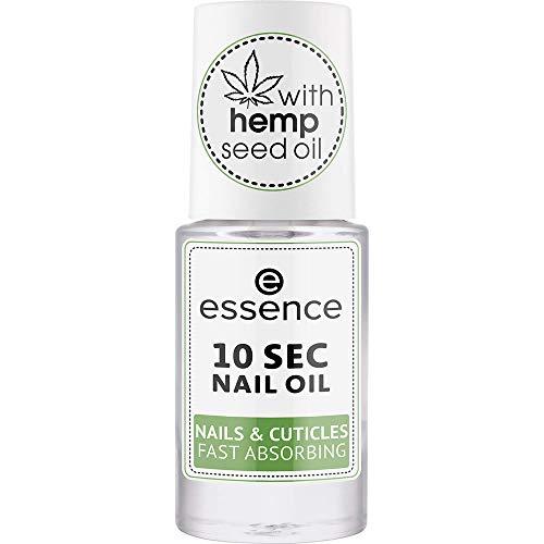 essence 10 SEC NAIL OIL NAILS & CUTICLES FAST ABSORBING, Nail Care, Nagelpflege, transparent, pflegend, Expressergebnis, natürlich, ohne Aceton, vegan, ohne Konservierungsstoffe (8ml)