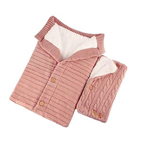 Babyschlafsack Neugeborener Kinderwagen Schlafsack Winter Warme Decke Baby Schlafsack + Handlauf 2Er-Set-Rose