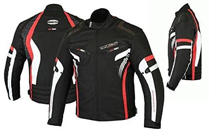 MBSmoto MJ22 Max Motorcycle Motorbike Short Textile Chaqueta deportiva (rojo, L)