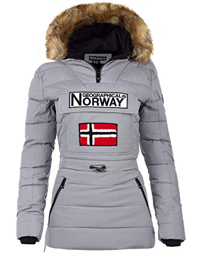 Geographical Norway Chaqueta cortavientos para mujer. gris L