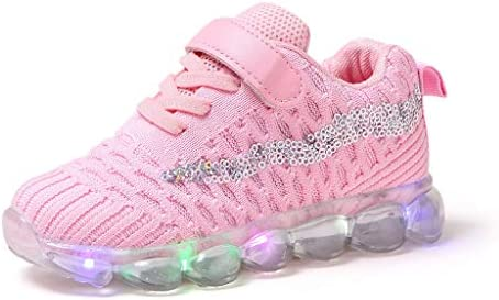 Sweet Trainers LED Breathable Running Sneakers for 1 6T Little Kids Toddler Baby Girls Light product image