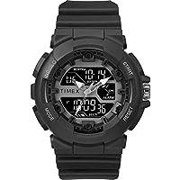 Timex Men's DGTL HQ Sporty Combo Black/Negative Resin Strap Watch