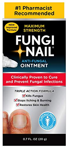 Fungi Nail Anti-Fungal Ointment, Kills Fungus That Can Lead To Nail & Athlete's Foot withTolnaftate& Clinically Proven to Cure Infections, Natural Color, 0.7 Fl Oz