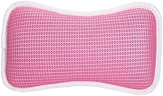 バスピロー お風呂 枕 まくら 3D通気メッシュ 弾性がよい 柔らかい 吸盤付き 滑り止め付 吸盤付き 防水 お風呂グッズ ギフト 浴槽枕 ふた 枕 安眠 人気 肩こり 熟睡 浴用品 (ピンク)