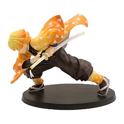 15Cm Anime Demon Slayer Figuras De Acción Dibujar Espada Agatsuma Zenitsu Figurilla Kimetsu No Yaiba Figura PVC Colección Modelo Juguetes