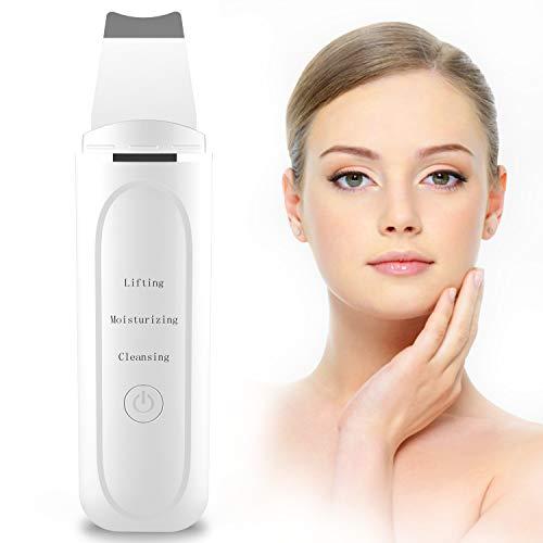 Skin Scrubber Depurador Ultrasónico Facial, 2NLF Limpiador Ultrasónico Facial 7 In 1 Electric Blackhead Remover para Puntos Negros y Espinillas, Masajeador Facial, USB Charge (BPC0189WT-NLEU-BY01)