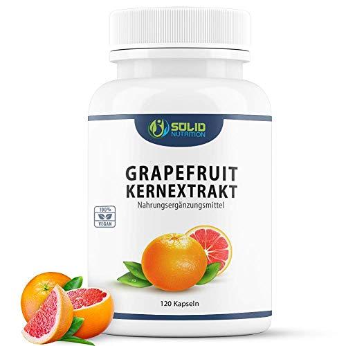 Grapefruitkernextrakt 120 Kapseln - Hochdosiertes Naturprodukt mit 450mg Extrakt aus Grapefruitkernen - vegan (Vorrat für 4 Monate)