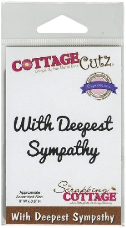 CottageCutz Expressions Die-With Deepest Sympathy, 6 x 8 in by CottageCutz B01AS7TN1Q     | Erste in seiner Klasse
