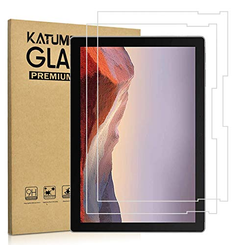 [2 Pack] KATUMO Panzerglasfolie für Microsoft Surface Pro 7 Bildschirmschutzfolie 9H Festigkeit Glas Bildschirmfolie für Microsoft Surface Pro 7