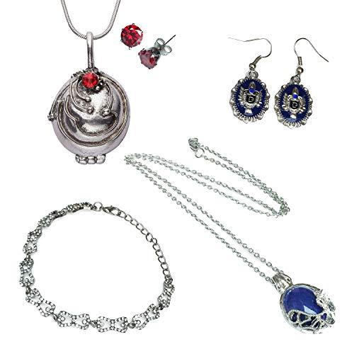 Orion Creations Schmuckpackung. Vampire Diaries. Halsketten, Ohrringe und Armband in Geschenkbox