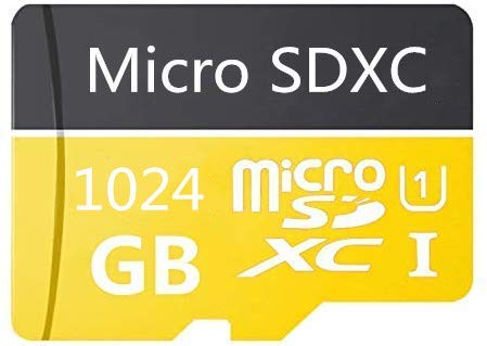 High Speed 1024GB Micro SD Card Designed for Android Smartphones, Tablets Class 10 SDXC Memory Card with Adapter