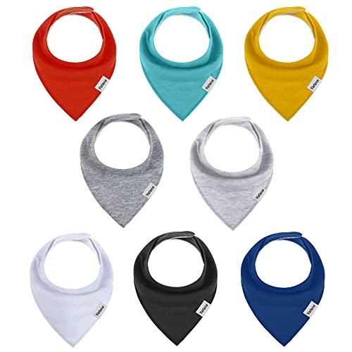 Yafane Baby Dreieckstuch Lätzchen 8er Halstücher Spucktuch Baumwolle Saugfähig Weich für Baby Jungen Mädchen Kleinkinder
