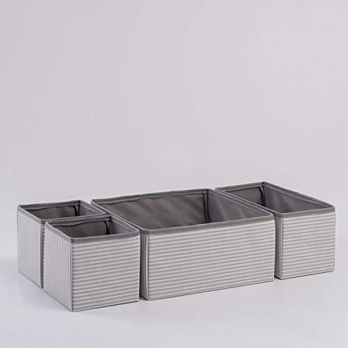 Ocean Home Faltbare Schubladenboxen, Organizer Aufbewahrungsbox für Unterwäsche Krawatten Socken...