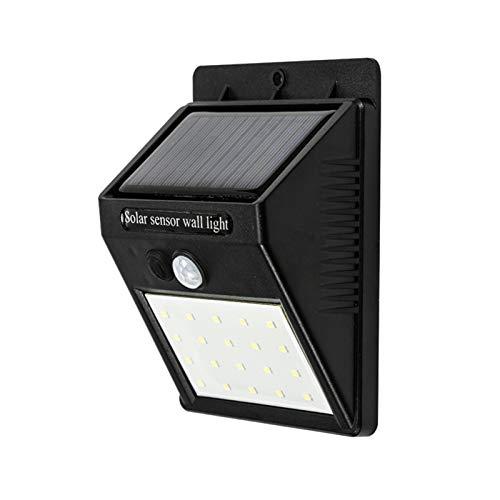Luces solares al aire libre, 3 modos 20/30 LED solar luz de pared, IP64 impermeable lámpara solar sensor de movimiento, para jardín, patio, puerta delantera, garaje, porche