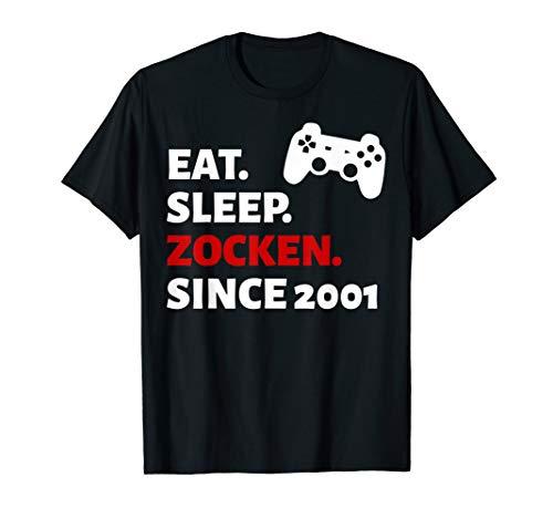 19. Geburtstag Mann Frau 2001 Damen Herren 19 Jahre Geschenk T-Shirt