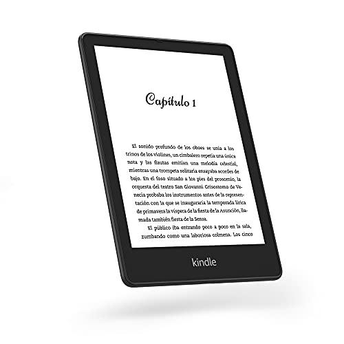 """Te presentamos el Kindle Paperwhite Signature Edition (32 GB)   Con una pantalla de 6,8"""", carga inalámbrica y luz frontal autorregulable   Sin publicidad"""