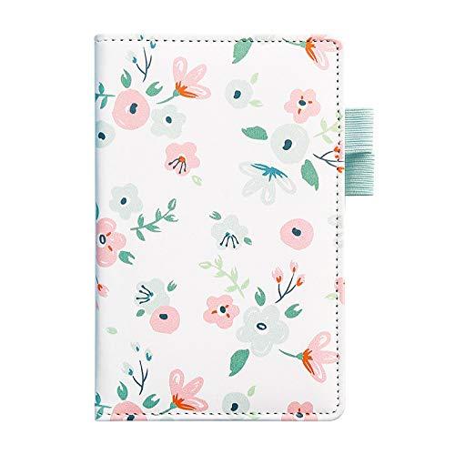 Mignon cuir Floral fleur calendrier livre journal hebdomadaire planificateur mensuel cahier fournitures de bureau scolaire Kawaii papeterie A6 03