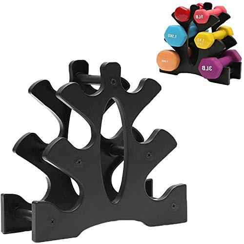 DENYSEL Soporte para mancuernas de 3 capas, soporte de mango para organizar el gimnasio o la colocación de muebles