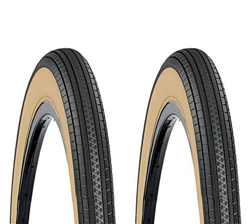 ONOGAL 2X Cubierta Rueda 20' 20' 1 3/8 Color Negro y Crema DSI SRI-30 37-451 para Bicicleta 6338