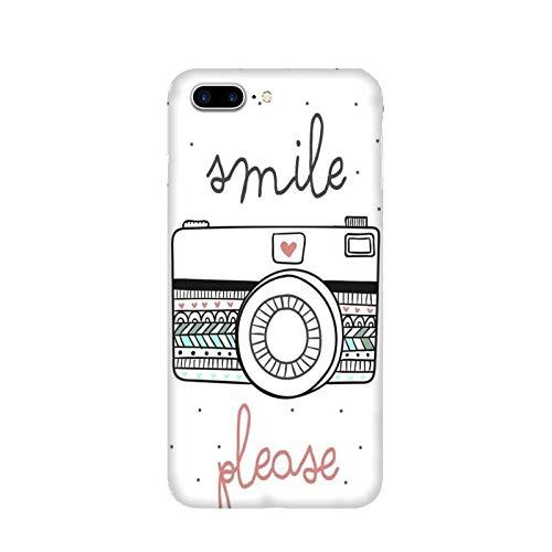 Funda iPhone 8 Plus Carcasa Apple iPhone 8 Plus Foto de la pasion sonríe por favor / Cubierta Imprimir también en los lados / Cover Antideslizante Antideslizante Antiarañazos Resistente a golpes Pr