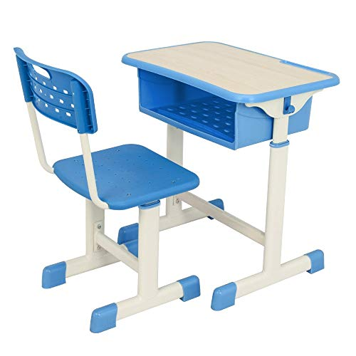 JYXJJKK Escritorio de ordenador ajustable para estudiante y silla, escritorio de estudio y sillas para 3 a 14 años de edad,