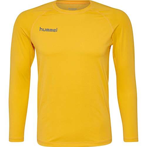 Hummel Kinder Funktionsshirt First Performance Jersey L/s 204503 Sports Yellow 164