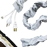 Cordinate Fabric Cord Cover, 6 Ft, Cable Management and Hider, Easy Installation, Great for Lamps, Light Fixtures, and Desks, Heather Gray, 40731