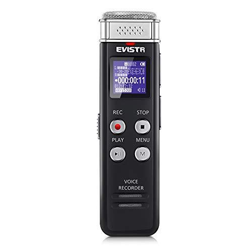 Grabadora Digital EVISTR de 16GB activada por Voz con reproducción - Dictafono...