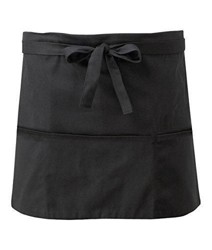 Unisex Bar-Schürze mit Tasche, Schwarz , einheitsgröße