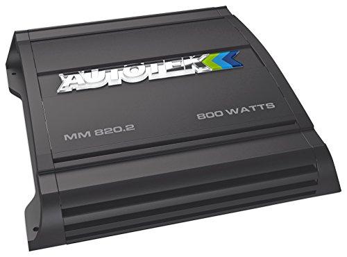 Autotek MM820.2 The Mean Machine - Amplificador AB de Clase 2 Canales (800 vatios), Color Negro, 12,5 Pulgadas x 12 Pulgadas x 4 Pulgadas