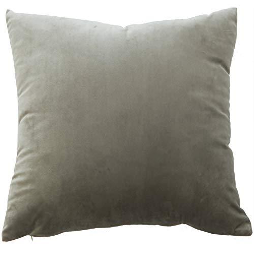BlueCosto (1_Gris Terciopelo Fundas de Cojines Funda de cojín para sofá Almohada Dormitorio Coche Suave Decoración 45 x 45 cm