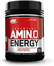 Optimum Nutrition Amino Energy - Pre Workout with Green Tea, BCAA, Amino Acids, Keto Friendly, Green Coffee Extract, Energy Powder - Fruit Fusion, 65 Servings